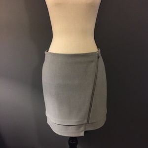 H&M Divided Gray Zipper Mini Skirt